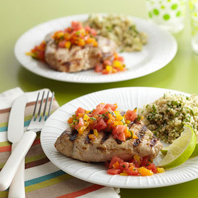 Grilled Tuna with Sweet 'n Heat Salsa