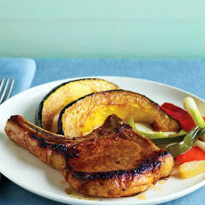 Glazed Pork Chops and Squash