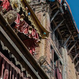 Architectural Decoration. by Eva Kamienska-Carter - Buildings & Architecture Architectural Detail ( bhaktipur, building, historic_architecture, architectural_detail, nepal )