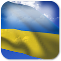 3D Ukraine Flag + icon