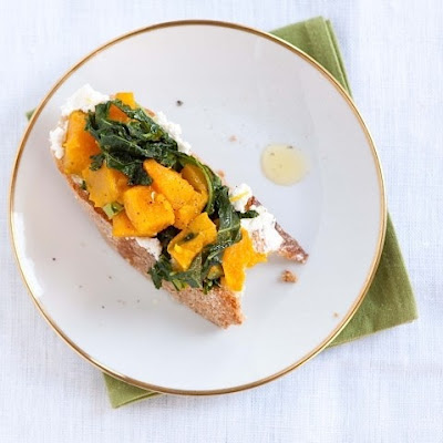 Winter Crostini with Squash and Kale