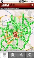 Screenshot of Zaragoza Traffic