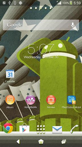 XPERIA Probot Theme - screenshot