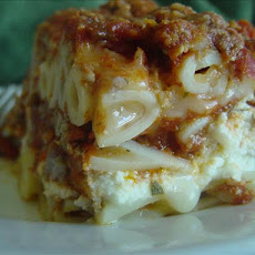 Company's Coming Layered Ziti Casserole