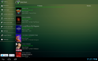Screenshot of WatchNext - series/movie guide