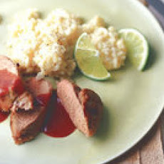 Pork Tenderloin with Spicy Strawberry Sauce