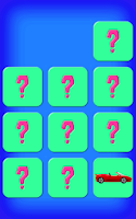 Screenshot of Cars Memory Game Free