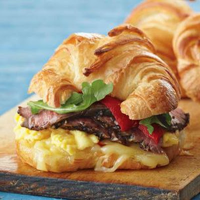 Steak and Egg Breakfast Sandwiches