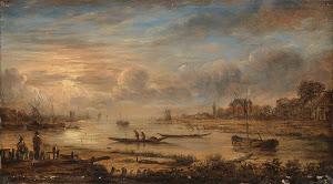 RIJKS: manner of Aert van der Neer: painting 1750