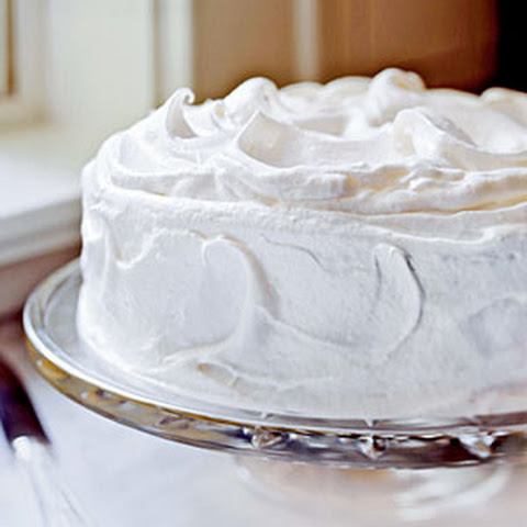Yellow Butter Cake with Vanilla Meringue Frosting