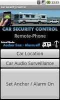 Screenshot of Car Security Control