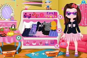 Screenshot of Care Little Girl & Girls Game