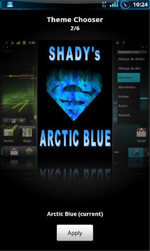 Shady Arctic Blue Theme CM7