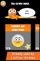 Screenshot of iTooch 7th Grade Math