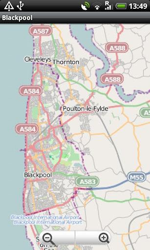 Blackpool Street Map