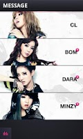 Screenshot of 2NE1 App