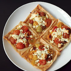 Oven Roasted Tomato and Goat Cheese Tarts