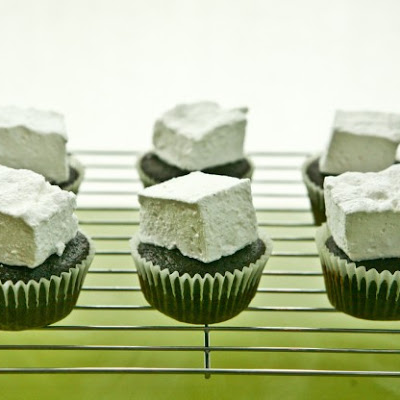 Chocolate Cupcakes with Marshmallow Frosting