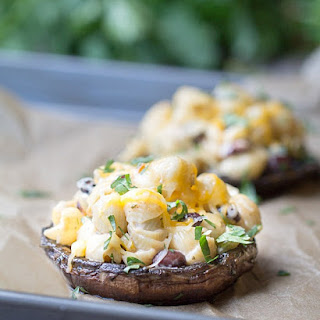 Southwest Pasta Salad Stuffed Mushrooms