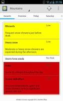 Screenshot of Weather Forecast: UK