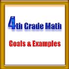 4th Grade Math, Goals&Examples icon