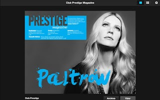 Screenshot of Club Prestige Magazine