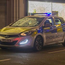 Police Car by Vic Casambros - Transportation Automobiles ( car, cops, london, police, cop, enfield, hyundai, middlesex )