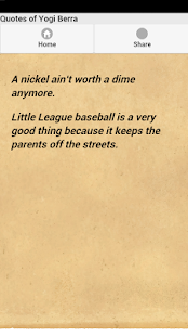 Quotes of Yogi Berra - screenshot