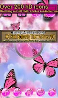 Screenshot of Pink Butterfly Theme Go SMS XO