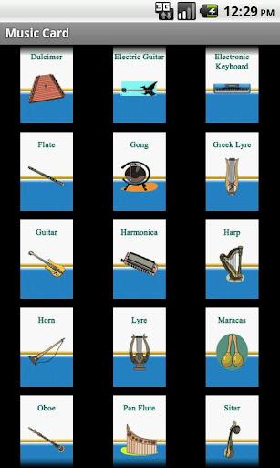 學習英語 - 樂器卡