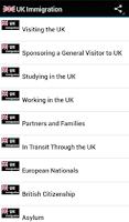 Screenshot of UK Immigration