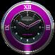 pink snake clock widget