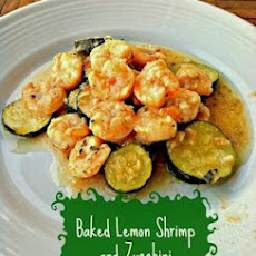 Baked Lemon Shrimp and Zucchini