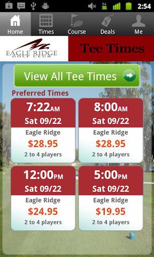 Eagle Ridge Golf Tee Times