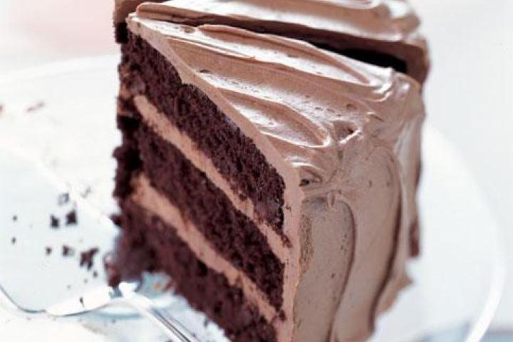 Chocolate Cake with Caramel-Milk Chocolate Frosting Recipe | Yummly