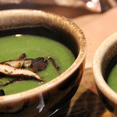 Watercress Soup with Grilled Shiitakes