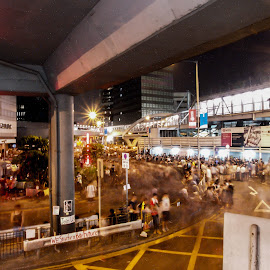 Occupy by Aidan Marzo - Novices Only Street & Candid ( hong kong, occupy central, umbrella, long exposure, democracy )