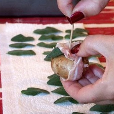 Pancetta- Wrapped Mushrooms