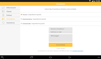 Screenshot of Area Clienti Aziende - FASTWEB
