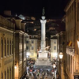 Rossio - Lisboa by Bruno Alx - City,  Street & Park  Historic Districts ( historic districts, night, historic district, lisbon, portugal, histórico, lisboa, historic )