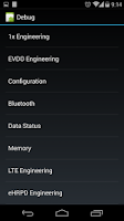 Screenshot of Nexus 5 Field Test Mode