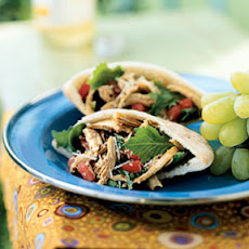 Little Italy Chicken Pitas with Sun-Dried Tomato Vinaigrette