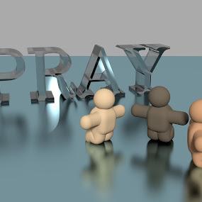 ALL MEN PRAY by TONY LOPEZ - Illustration People ( religion, christianity, church, praying, men, religious,  )
