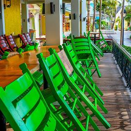 Bahamas by Vanko Dimitrov - City,  Street & Park  Street Scenes ( green, summer, colorful, mood factory, vibrant, happiness, January, moods, emotions, inspiration )