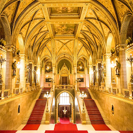 Gold Room by Franco Beccari - Buildings & Architecture Public & Historical ( parliament, budapest, art, gold room, gold, room )