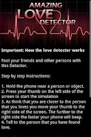 Screenshot of Amazing Love Detector