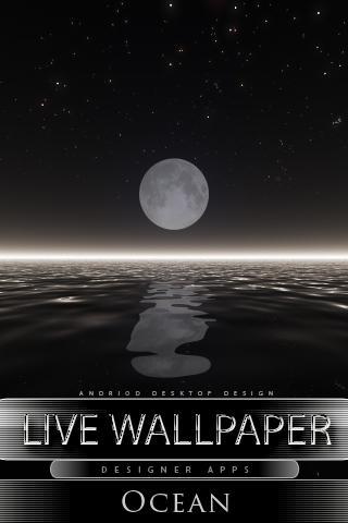 海洋活壁紙月亮
