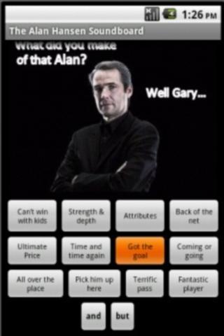 The Alan Hansen Soundboard