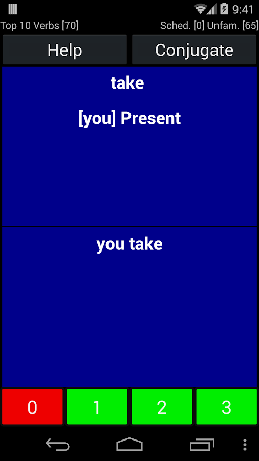 English Verb Trainer Pro Screenshot 2