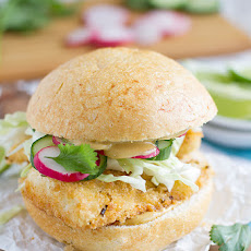 Panko Crusted Fishwiches with Wasabi Tartar Sauce